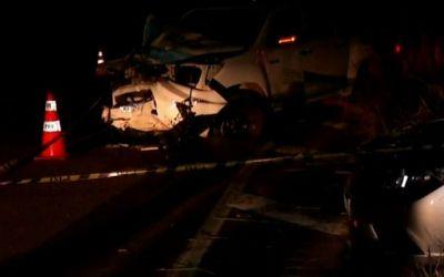 Mulher morre em acidente entre três veículos na BR-116, em Mathias Lobato
